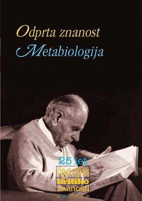 Darij Zadnikar,et al.: Odprta znanost: metabiologija