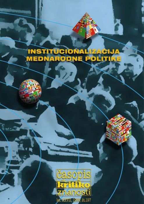 Darij Zadnikar,et al.: Institucionalizacija mednarodne politike
