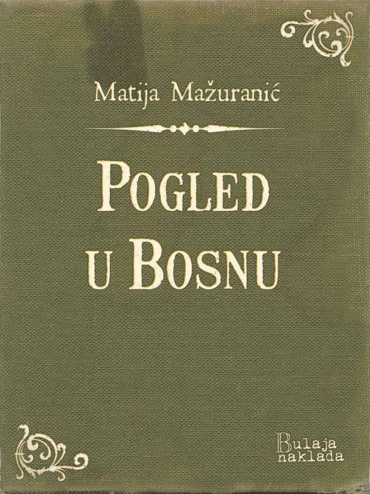Matija Mažuranić: Pogled u Bosnu