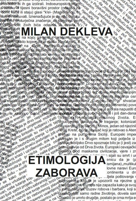 Milan Dekleva: Etimologija zaborava