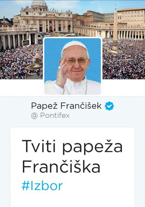 Papež Frančišek: Tviti papeža Frančiška