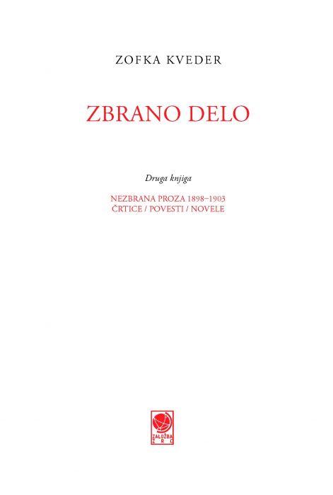 Zofka Kveder: Zbrano delo, 2. knjiga