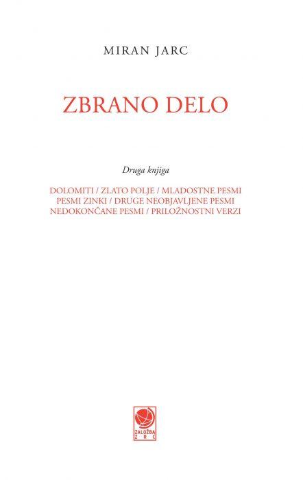 Miran Jarc: Zbrano delo, 2. knjiga