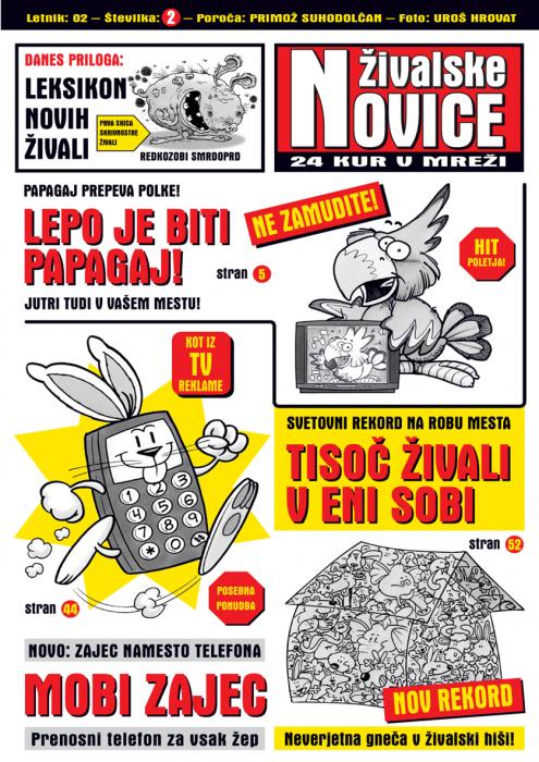 Primož Suhodolčan: Živalske novice 2 - 24 kur v mreži