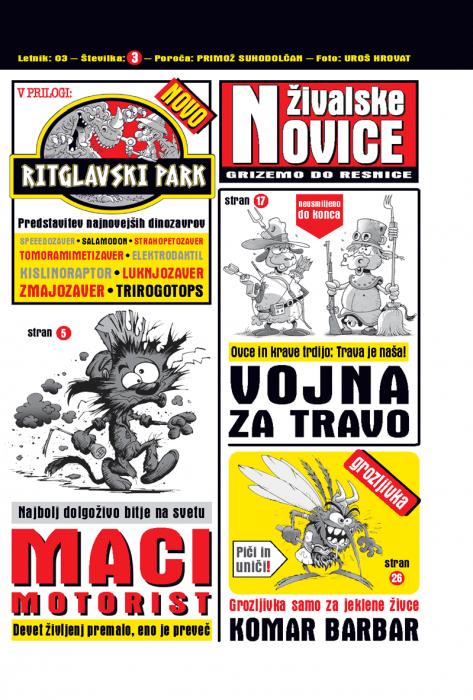 Primož Suhodolčan: Živalske novice 3 - Grizemo do resnice
