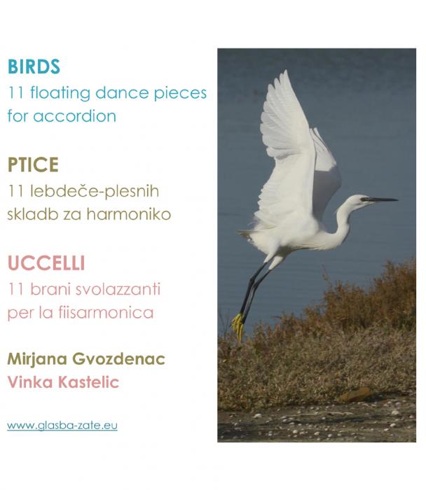 Mirjana Gvozdenac, Vinka Kastelic (fotografije): Birds: 11 floating dance pieces for accordion